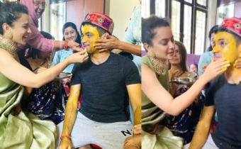'Ancestral home drowned in marriage ceremony festivities': Kangana Ranaut dons her mom's jhumkas at brother's Haldi ceremony